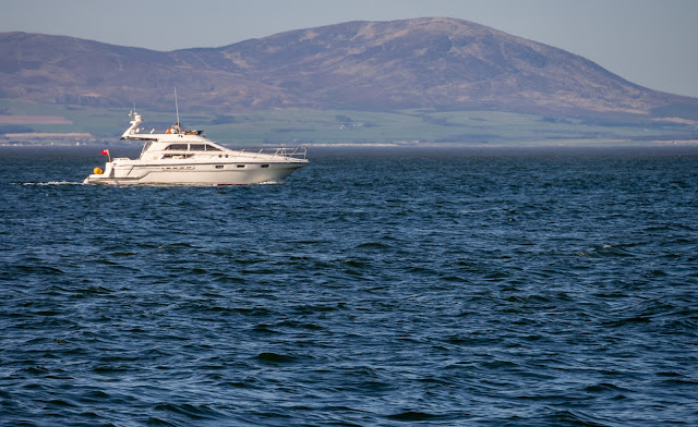 Photo of our friends' boat Andromeda on the Solway Firth on Saturday before they went to rescue the yacht