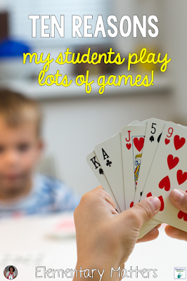 Ten Reasons My Students Play Lots of Games - This post gives reasons based on brain research, on why students should be playing games in the classroom.