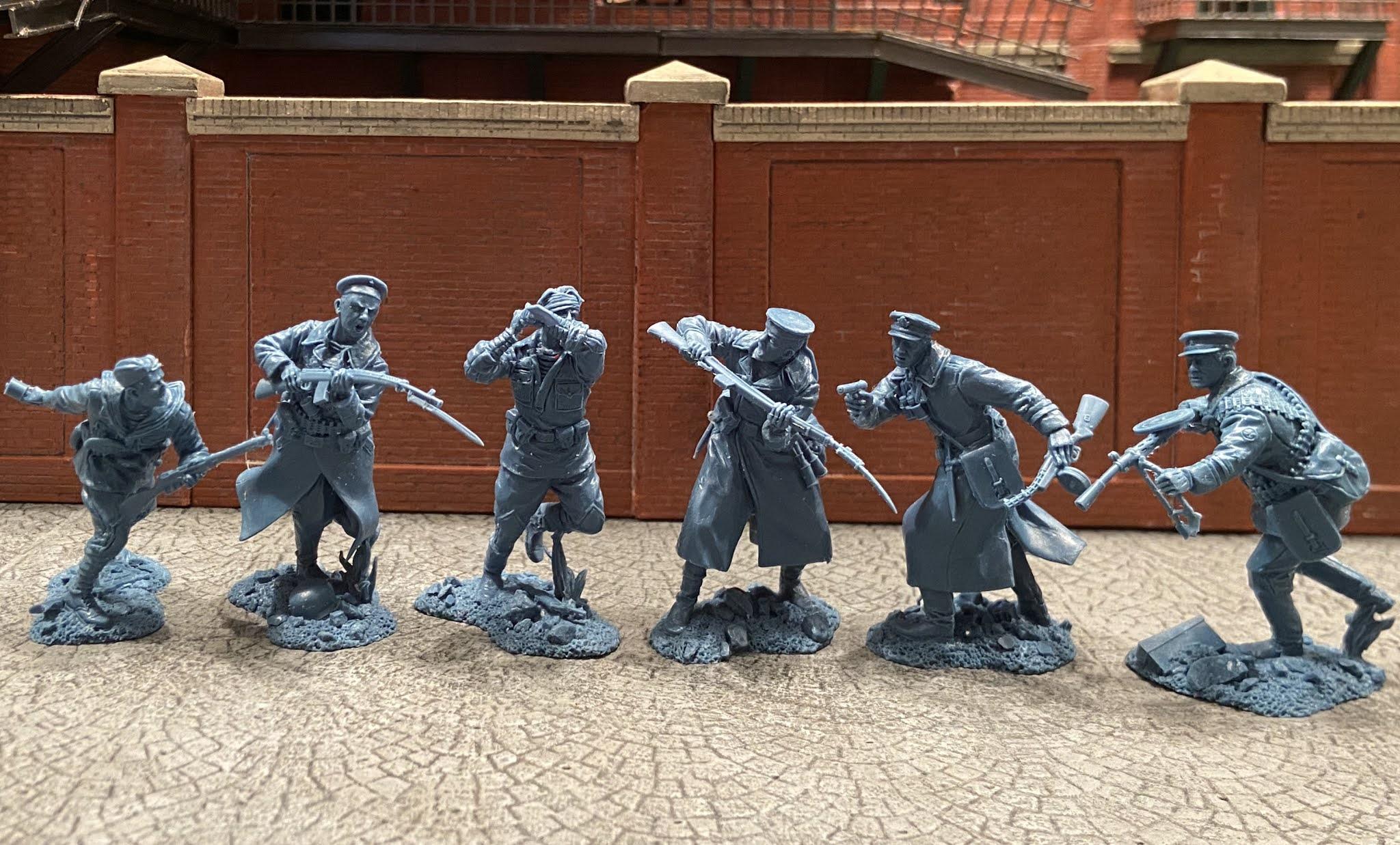 Plastic Platoon Toy Soldiers Soviet Naval Infantry Defense of Leningrad 1941