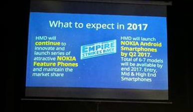 Up to 7 Nokia Android phones coming out in 2017