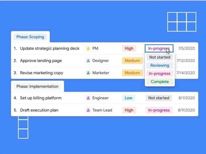 Google lança o Tables, o mais novo concorrente do Trello