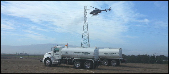 PJ Helicopters Kenworth T370 providing water to a helicopter