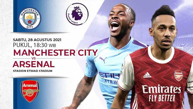 Link Live Streaming Manchester City vs Arsenal Liga Inggris