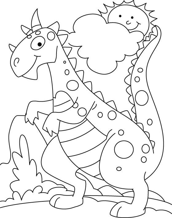 Dinosaurs coloring pages 8