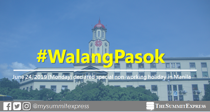 #WalangPasok: Palace declares special non-working holiday in Manila on June 24