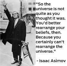 Meme con cita de Isaac Asimov