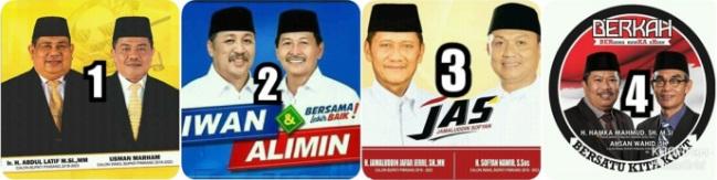 Empat pasang calon Bupati dan wakil Bupati Kabupaten Pinrang 2018