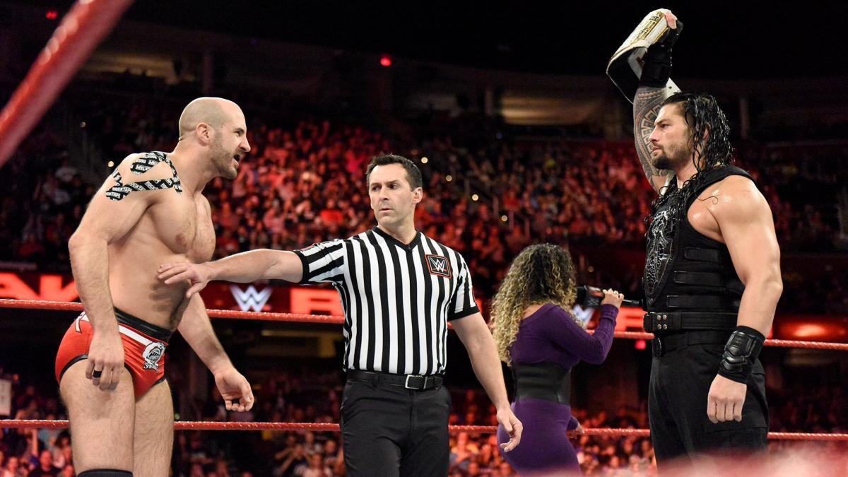 Cesaro vs. Roman Reigns pode acontecer após a WrestleMania 37