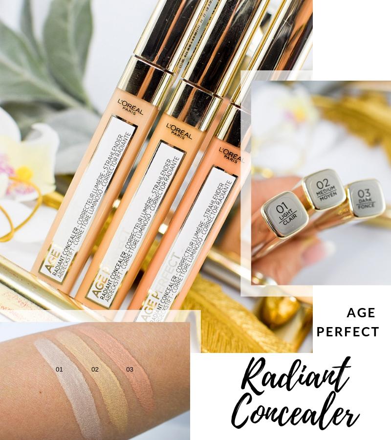 Übersicht und Test der L'Oréal Age Perfect Concealer