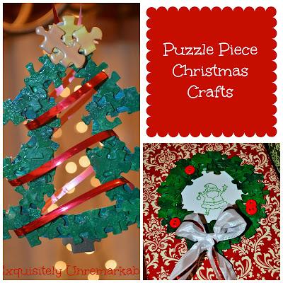 Puzzle Piece Christmas Crafts