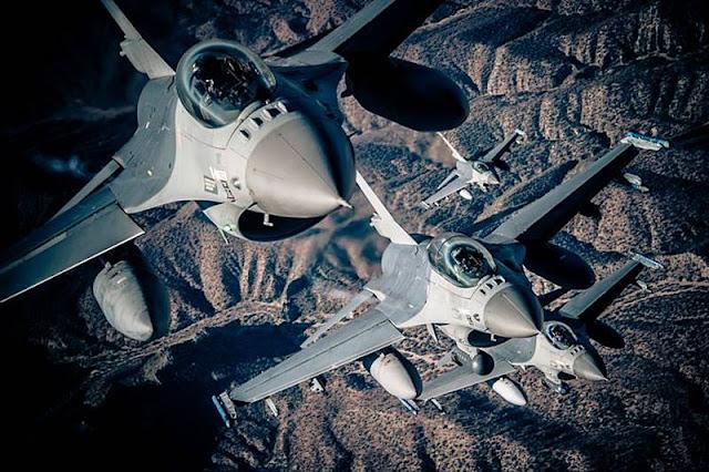 USAF F16 electronic countermeasures Northrop Grumman