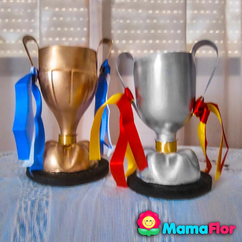 Dia del Padre Manualidades Reciclaje Trofeo DIY