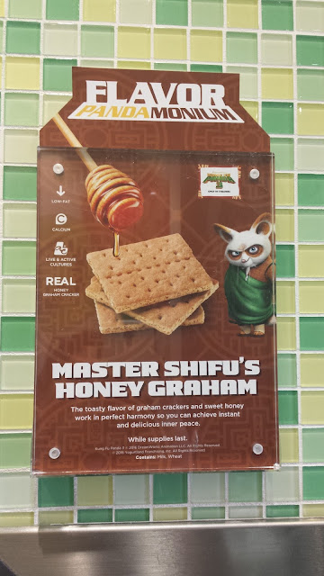 Master Shifu's Honey Graham: The light and smooth taste of this delicious frozen flavor makes for the perfect foundation to any and all adventurous Yogurtland toppings