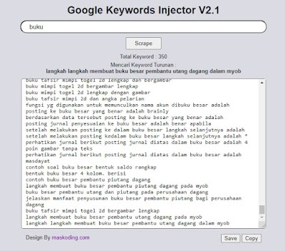 Update Google Keywords Injector v2.1