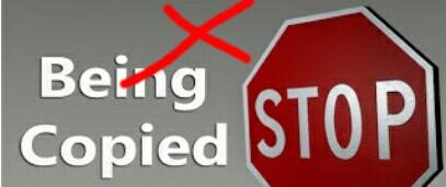 Stop blog copying