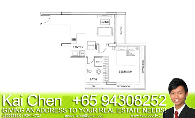 Fortville Service Apartment Singapore - Floorplan