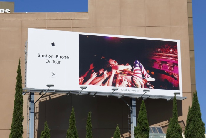 IDLES Shot on iPhone On Tour billboard