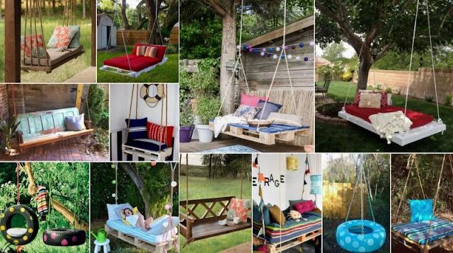 Κούνιες για Κήπο - 20+ DIY Ιδέες