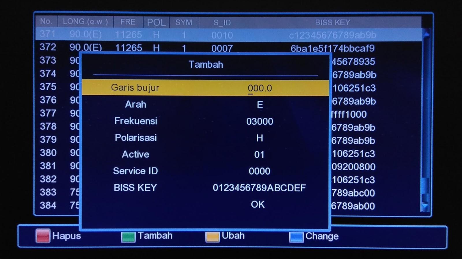 Cara Memasukkan Biss Key Di Receiver Winasat HD 88N