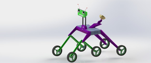 Design of Moon explorer robot with rocker bogie mechanism and its simulation - a minor project in mechanical engineering