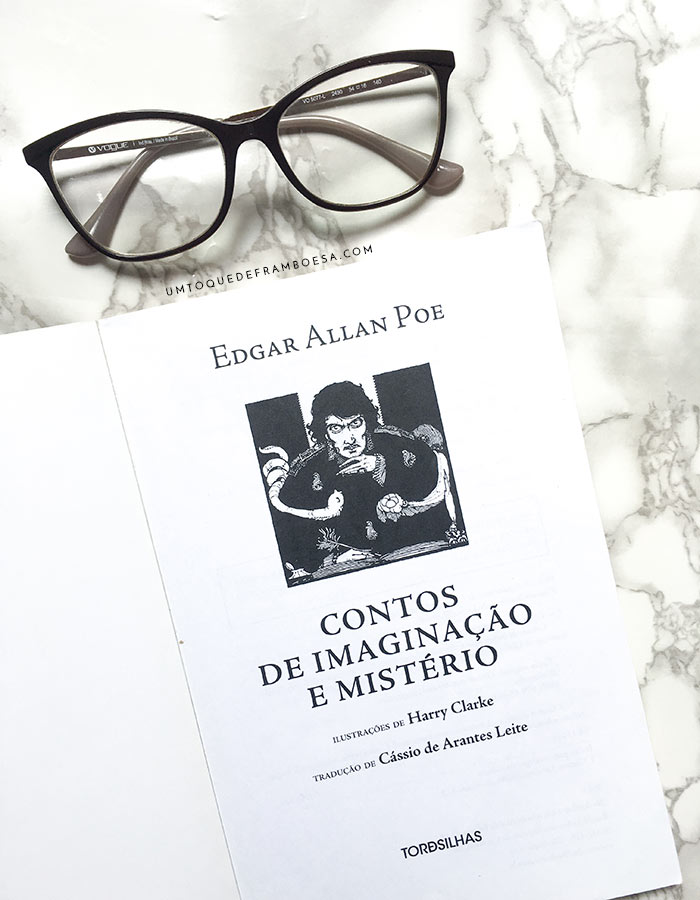 Primeira página do livro Contos de Imaginação e Mistério, de Edgar Allan Poe e editado no Brasil pela Editora Tordesilhas