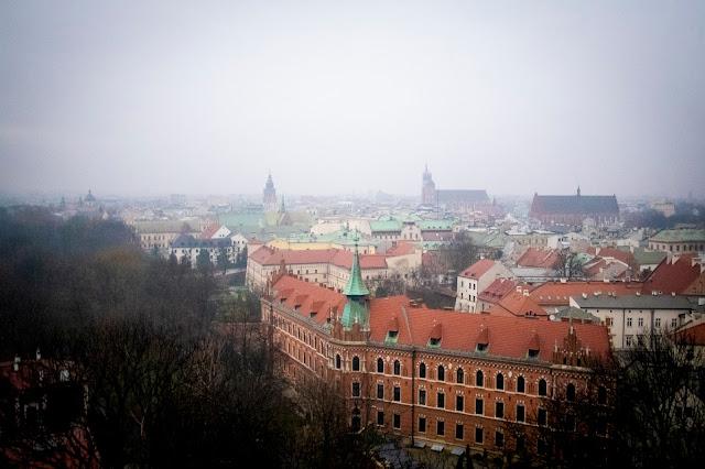 Vista dal campanile della Cattedrale-Castello del Wawel-Cracovia