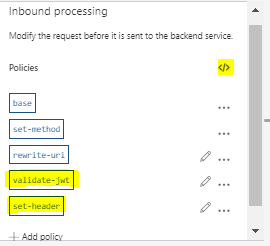policy on inbound processing
