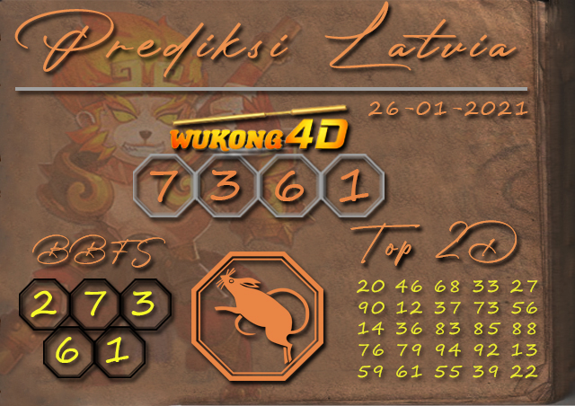 PREDIKSI TOGEL LATVIA WUKONG4D 26 JANUARY 2020