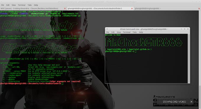 OKadminFinder - Easy way to find admin panel of site Tested BackBox GNU/Linux