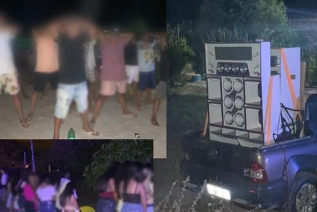 PM interrompe festa clandestina com cerca de 100 jovens e adolescentes em Brumado