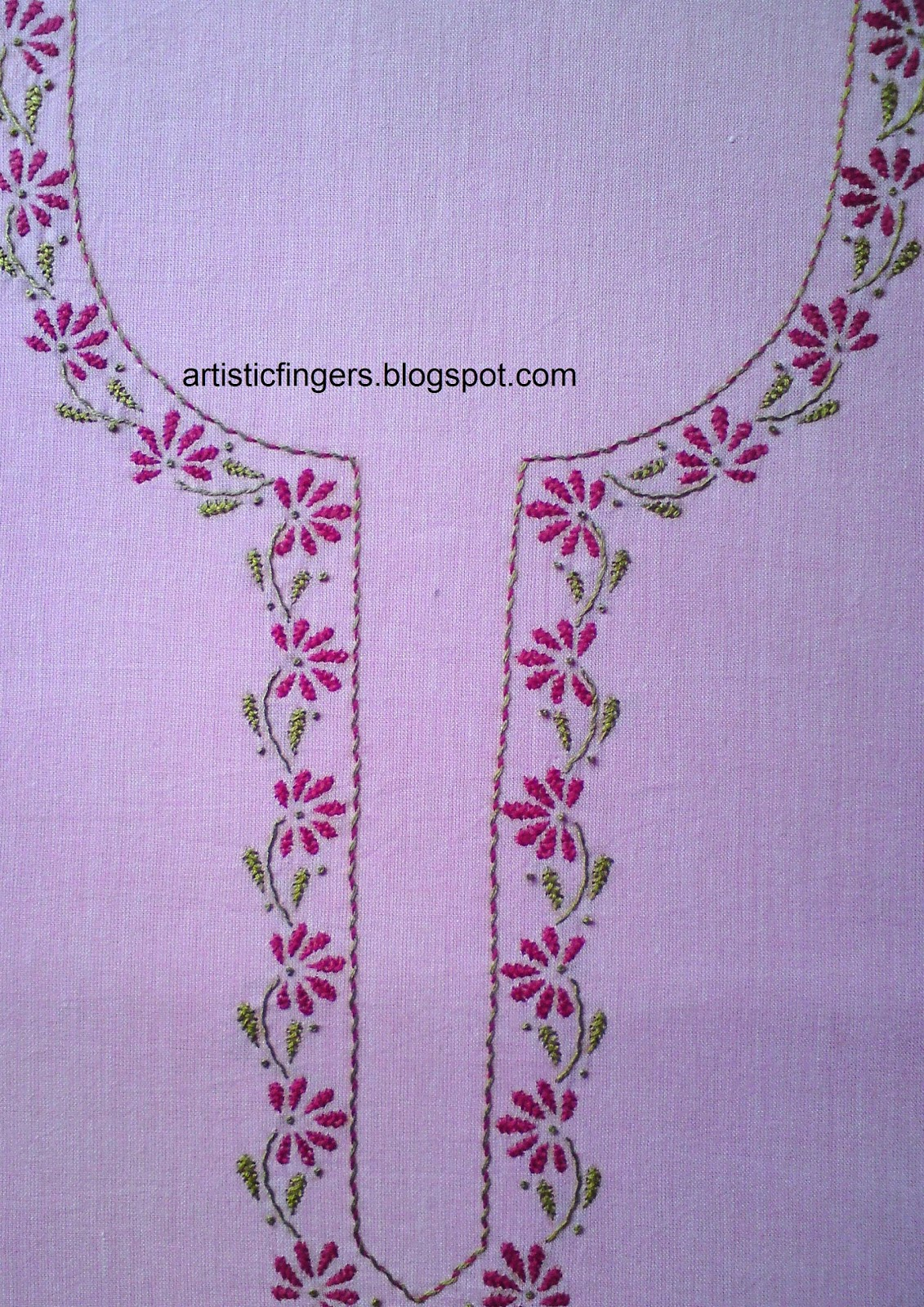 Artisticfingers surface embroidery free style