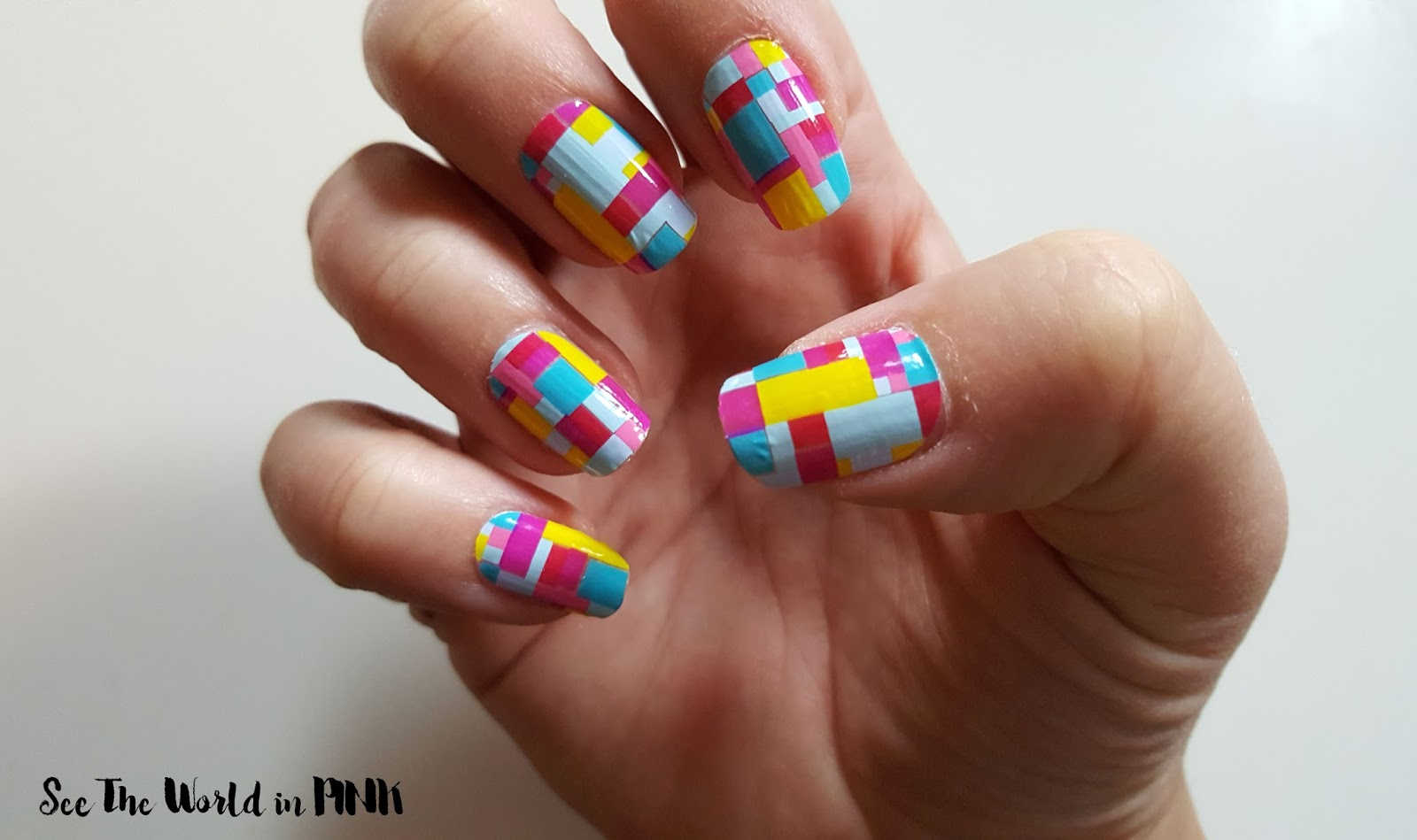 "Manicure Monday - Scratch Nail Wraps in ""Shape Up"""