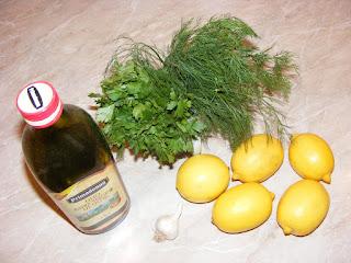 retete cu lamai usturoi ulei de masline si verdeata, preparate din lamai usturoi ulei de masline si verdeata,