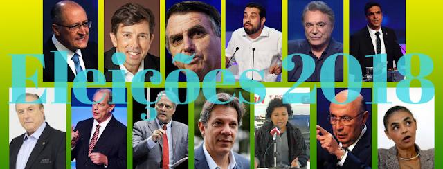 Foto dos 13 candidatos à presidência do Brasil