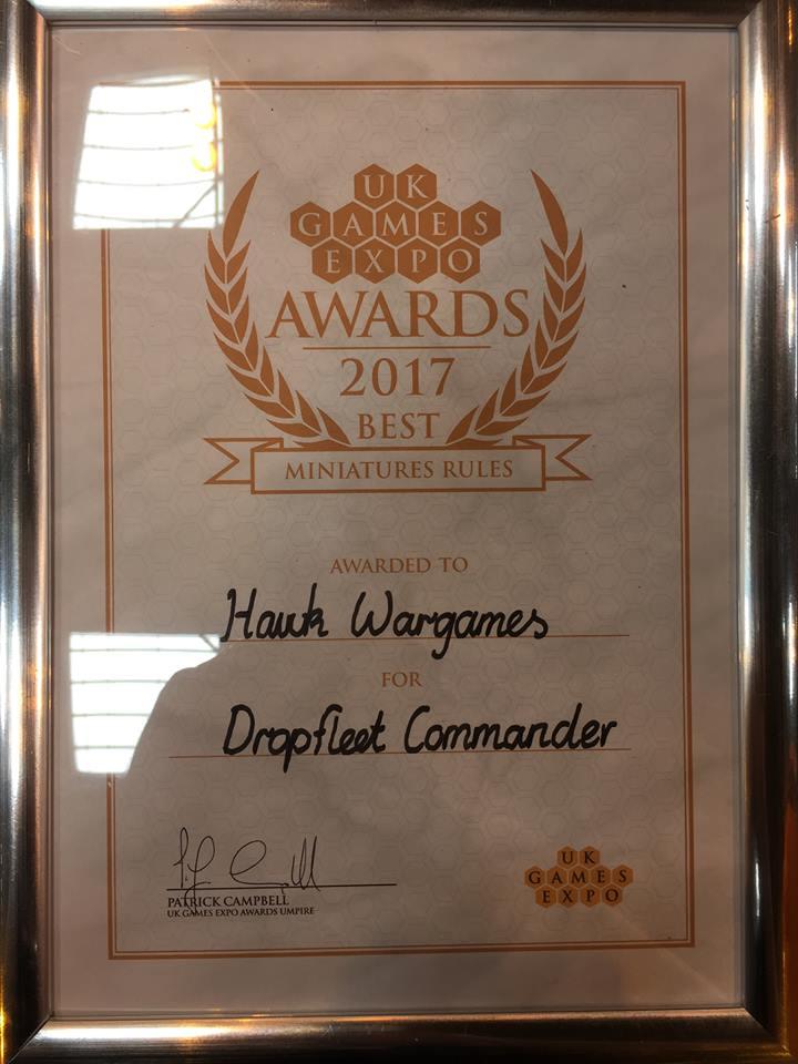 Dropfleet Commander wins Best Miniatures Rules 2017