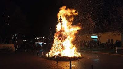 Δήμος Κατερίνης: Αναβίωσε «το Κάψιμο του Καλικάντζαρου» στον Άνω Άγιο Ιωάννη