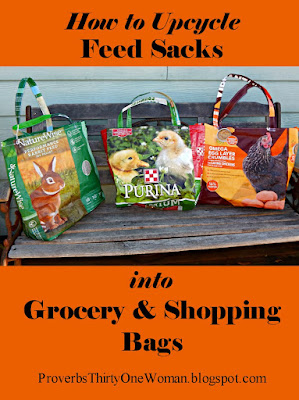 How to Turn Feed Bags into Grocery Totes