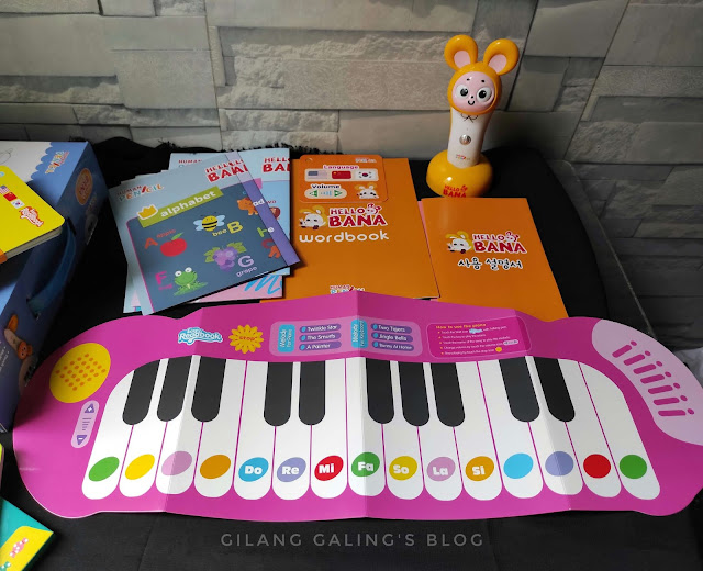 Teaching Aids Piano di Home Educational Hello Bana set yang Instrumen dan Lagu bahasa Inggrisnya seru
