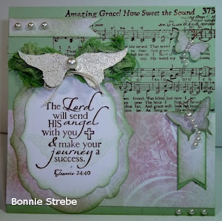 ODBD Holy Angels, ODBD Amazing Grace Hymn, ODBD Shabby Rose Paper Collection, Card Designer Bonnie Strebe