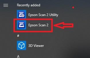 klik epson scan 2
