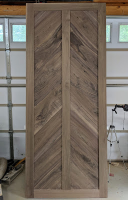 Walnut Barn Door Completed