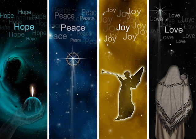 Image result for advent hope peace joy love