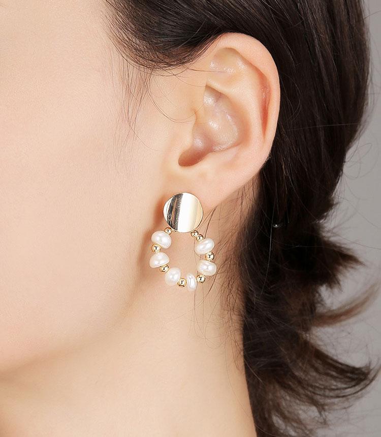 花好月圓淡水真珍珠耳環