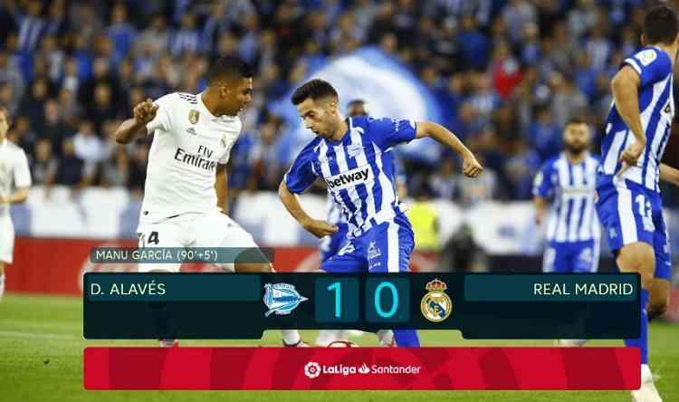 Hasil Alavés vs Real Madrid Skor Akhir 1-0
