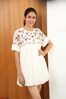 Lavanya Tripathi in Summer Style Spicy Short White Dress at her Interview  Exclusive 261.JPG