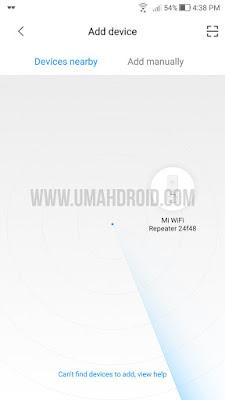 Xiaomi Wifi Amplifier Terdeteksi