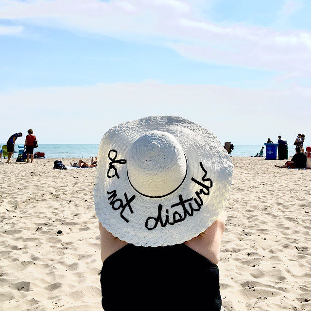 DIY Floppy Hat with writing