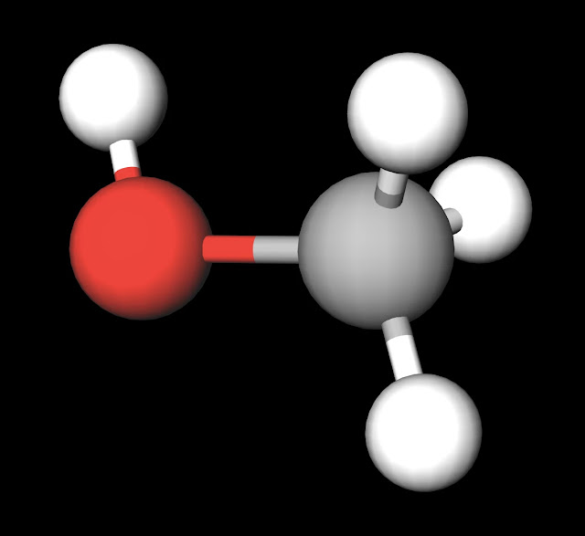 Methanol Ball and Stick Model