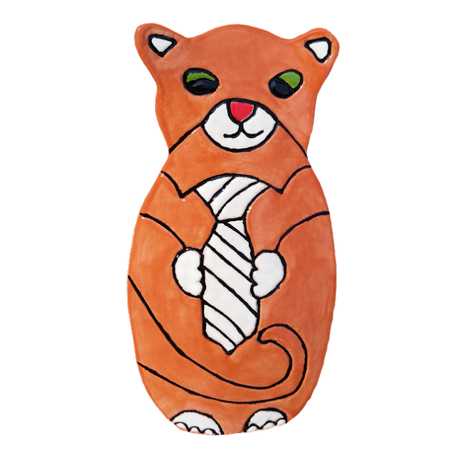 Cat themed wall decor Orange cat