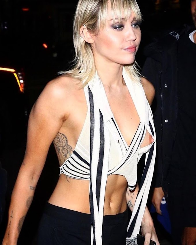 18+ Photos: Miley Cyrus intentionally expose her B**bs